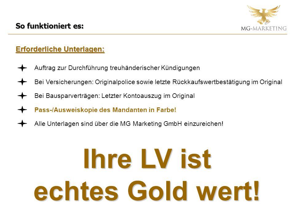 Ihre LV ist echtes Gold wert!