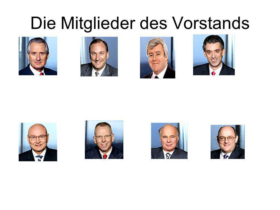 Die Mitglieder des Vorstands