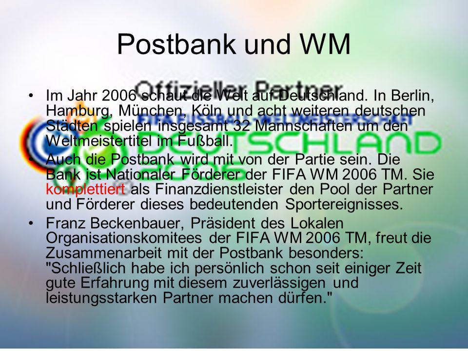 Postbank und WM