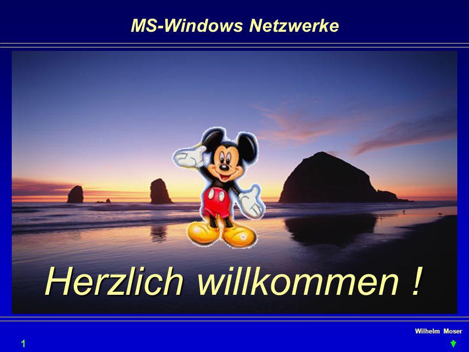 MS-Windows Netzwerke Herzlich willkommen ! Wilhelm Moser 1