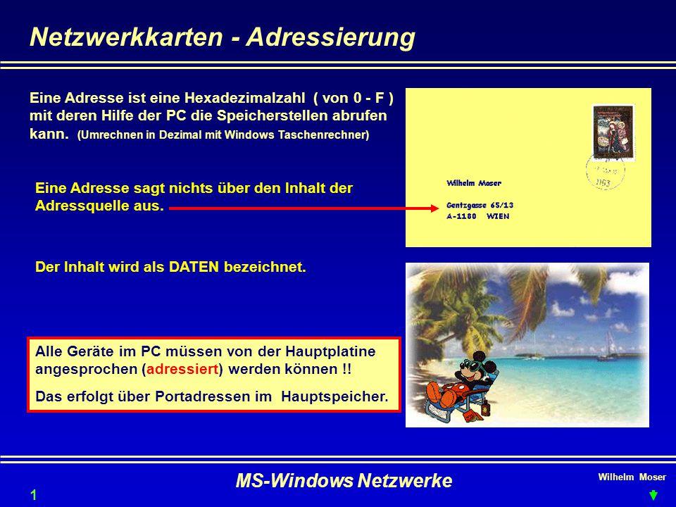 Netzwerkkarten - Adressierung
