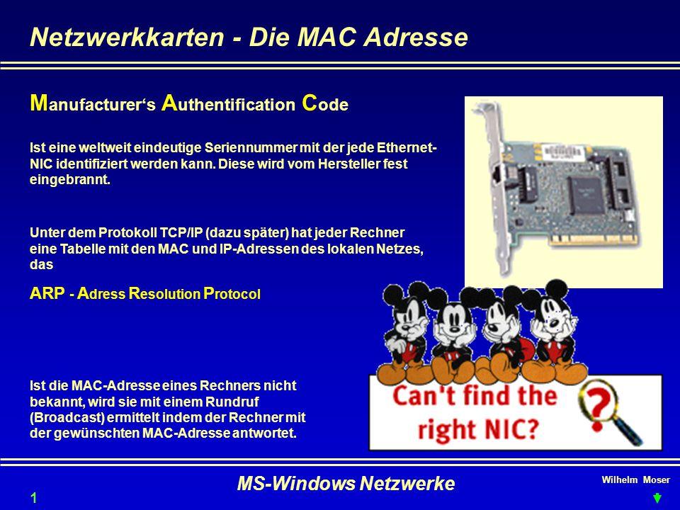 Netzwerkkarten - Die MAC Adresse