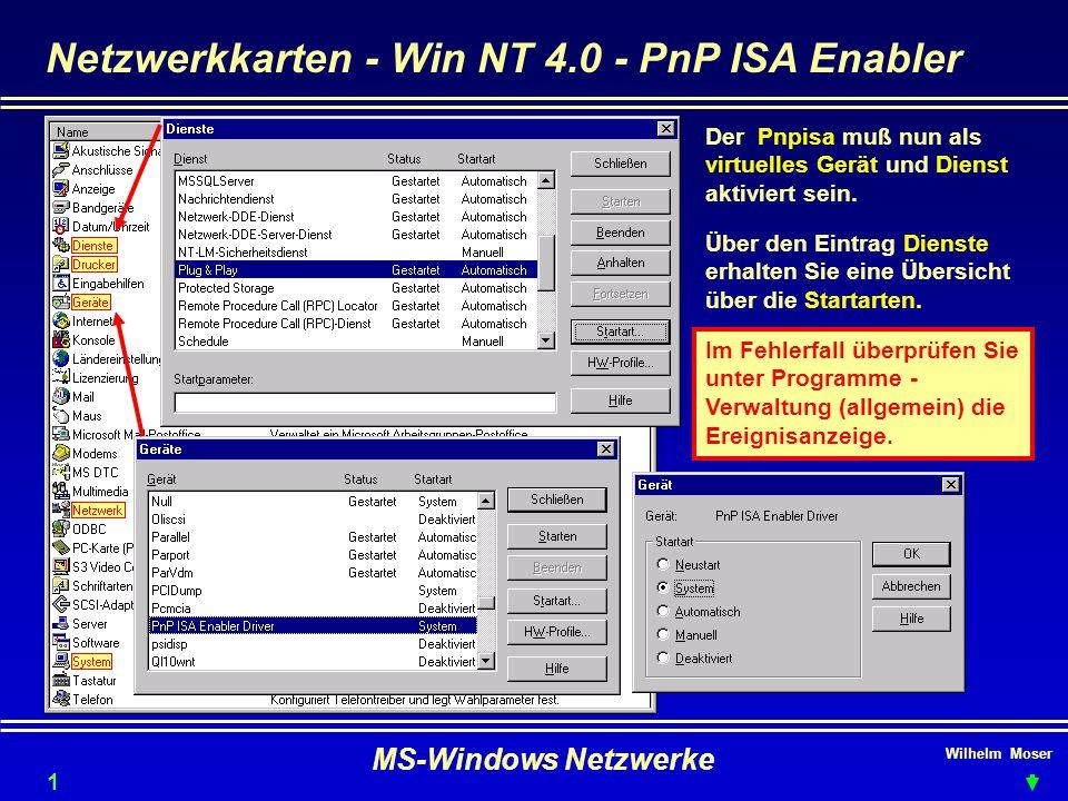 Netzwerkkarten - Win NT 4.0 - PnP ISA Enabler