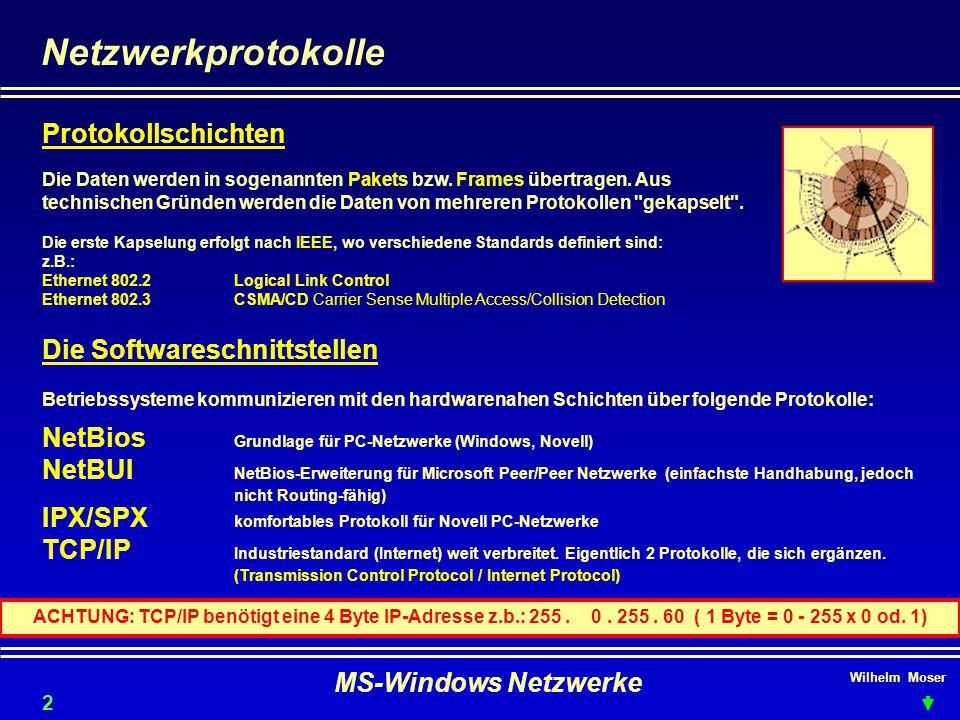 Netzwerkprotokolle Protokollschichten Die Softwareschnittstellen