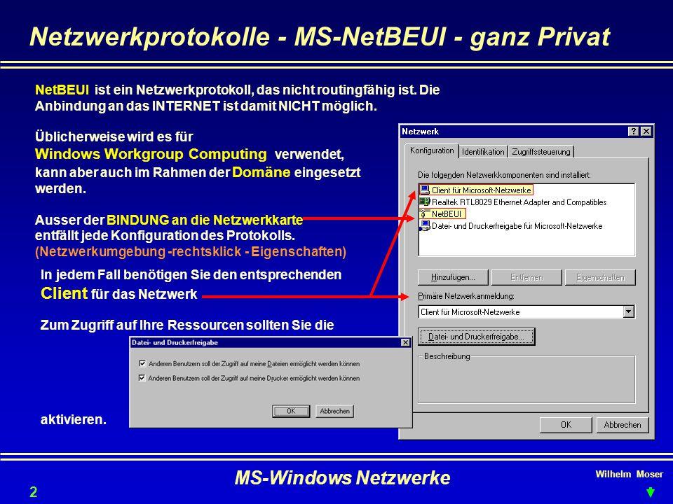Netzwerkprotokolle - MS-NetBEUI - ganz Privat
