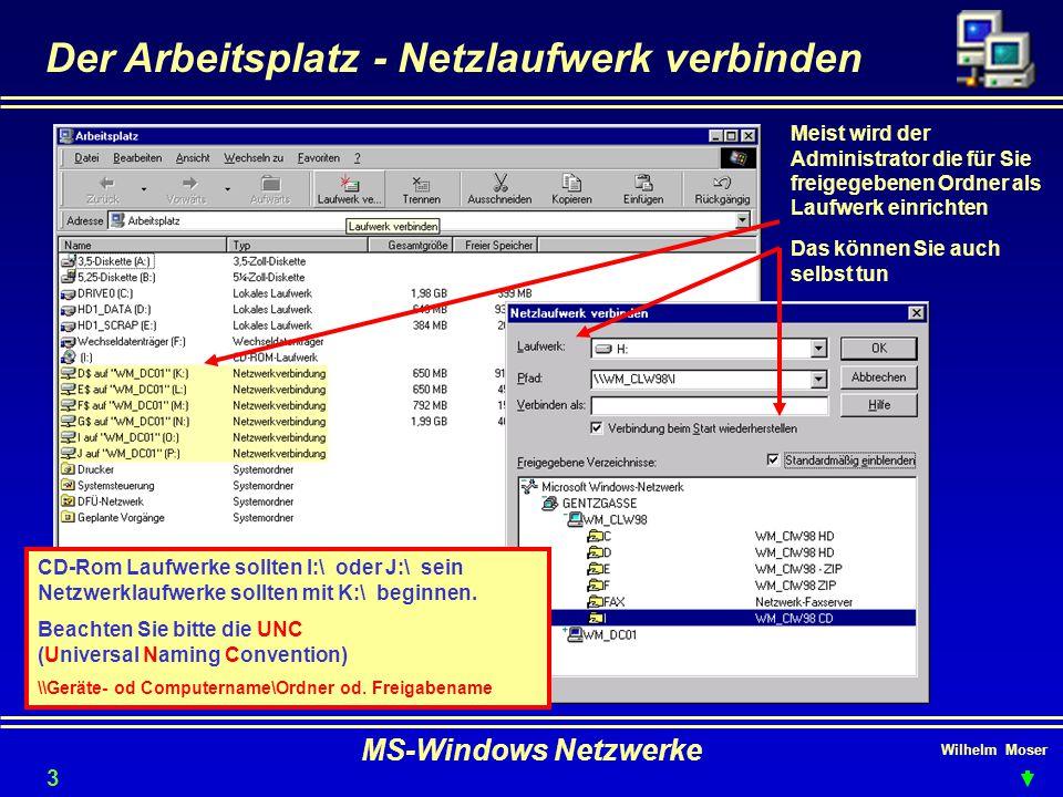 Der Arbeitsplatz - Netzlaufwerk verbinden