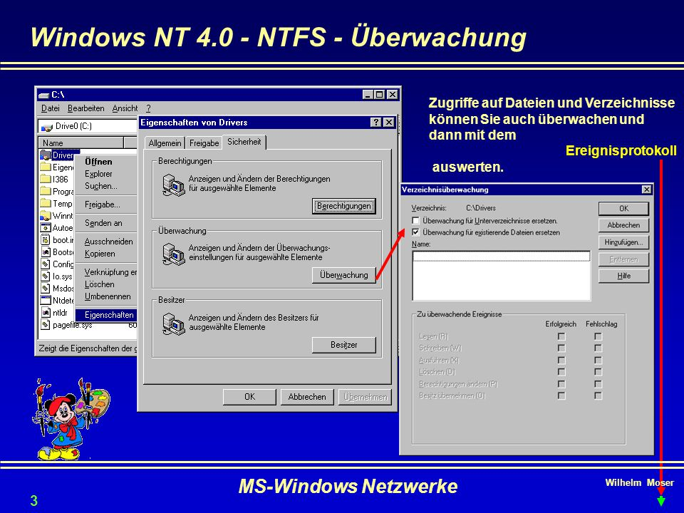 Windows NT 4.0 - NTFS - Überwachung