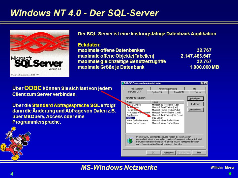 Windows NT 4.0 - Der SQL-Server