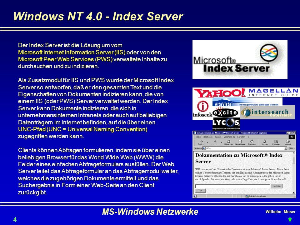 Windows NT 4.0 - Index Server