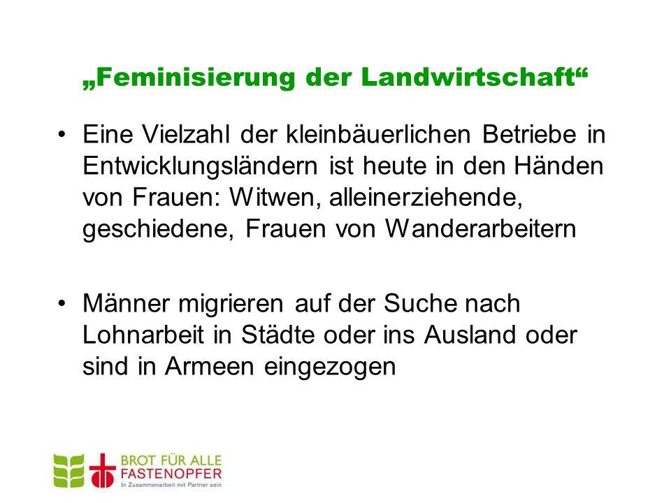 """""""Feminisierung der Landwirtschaft"""