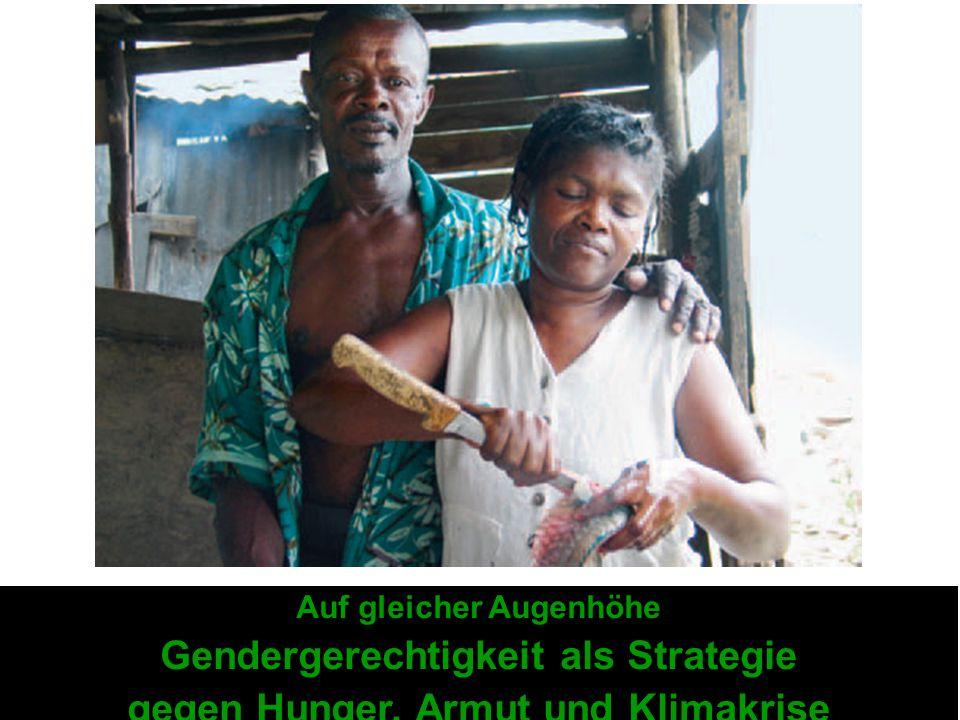 Gendergerechtigkeit als Strategie gegen Hunger, Armut und Klimakrise