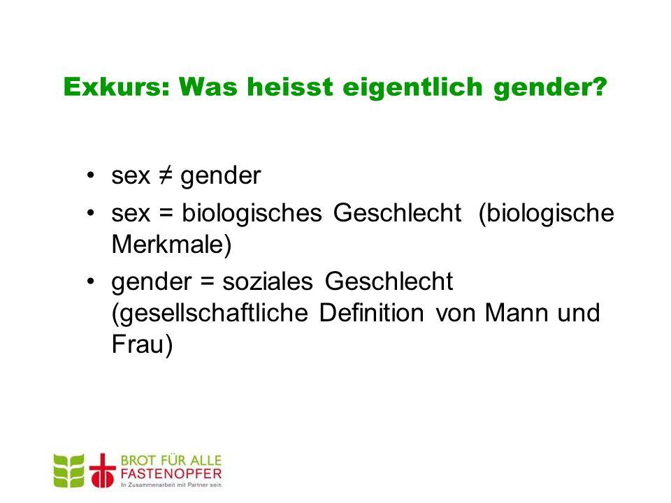 Exkurs: Was heisst eigentlich gender