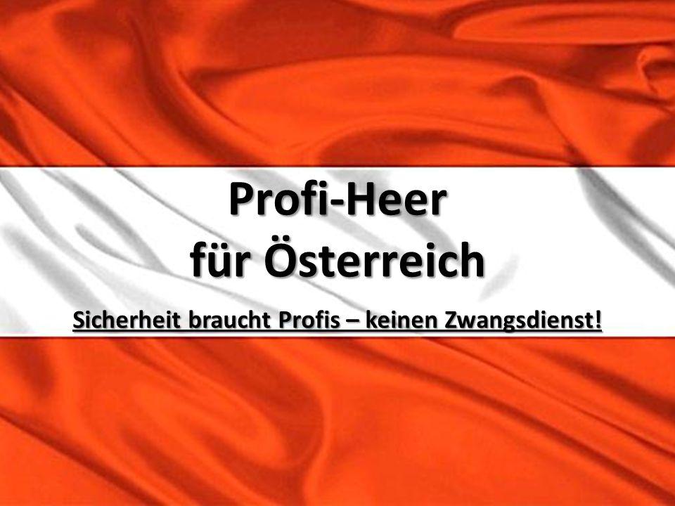 Profi-Heer für Österreich