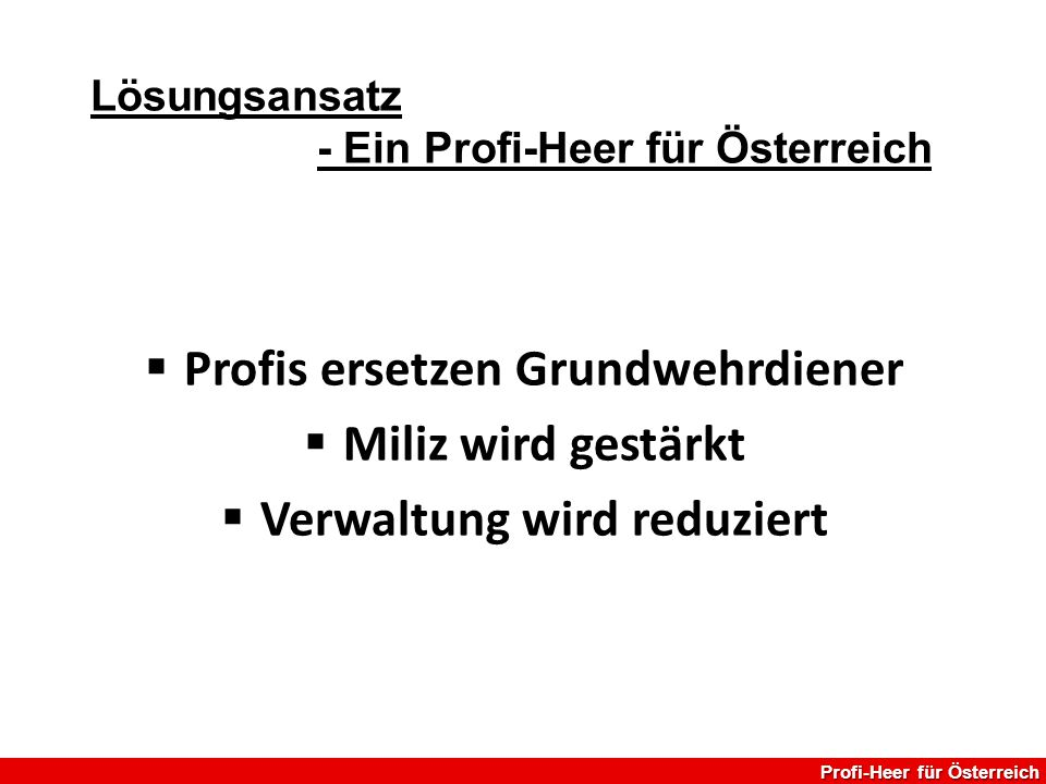 Profis ersetzen Grundwehrdiener Verwaltung wird reduziert