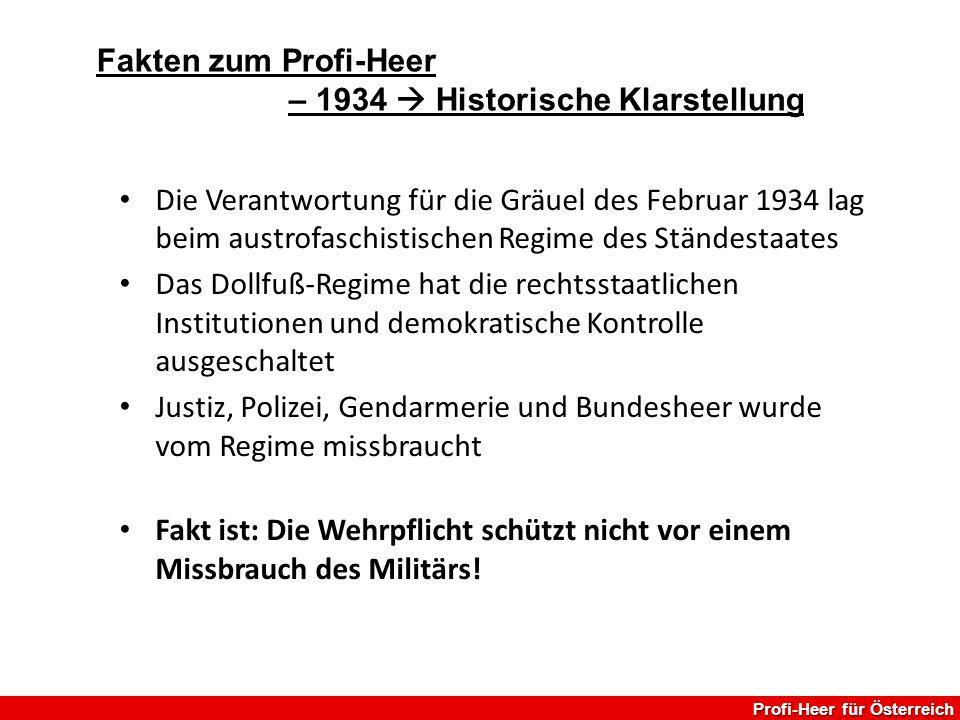 – 1934  Historische Klarstellung