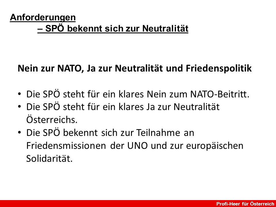Nein zur NATO, Ja zur Neutralität und Friedenspolitik