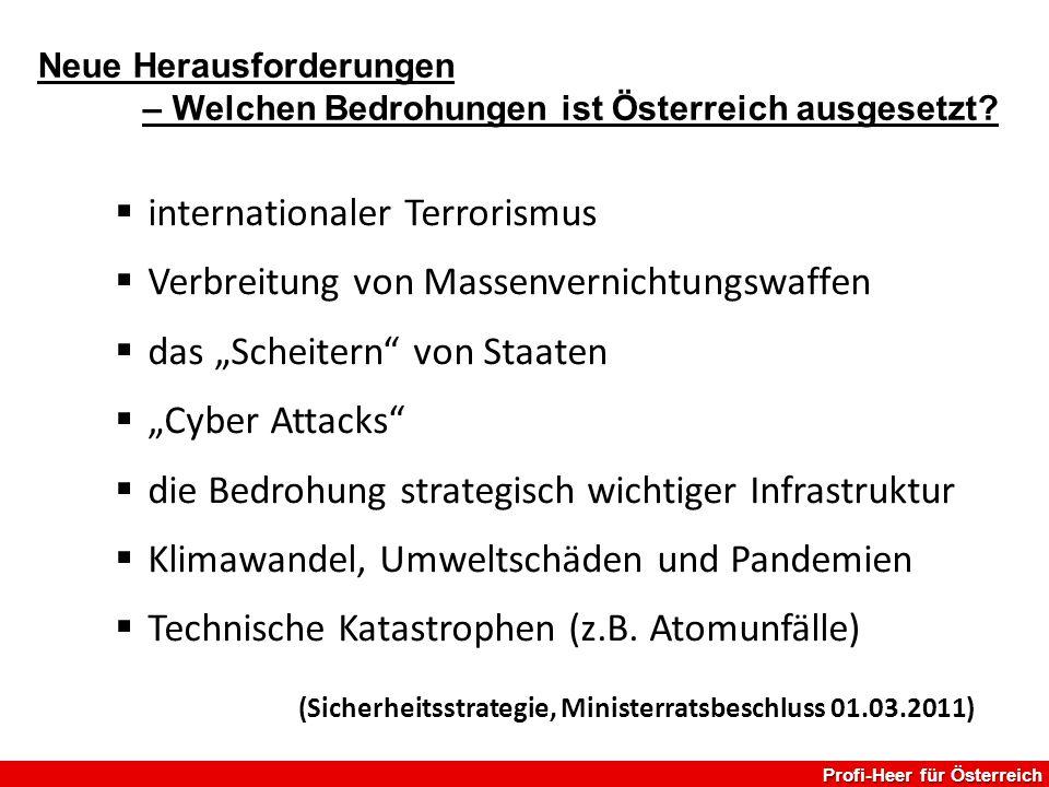 internationaler Terrorismus Verbreitung von Massenvernichtungswaffen