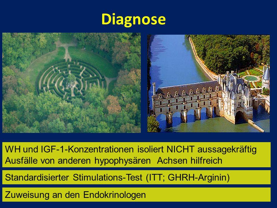 Diagnose WH und IGF-1-Konzentrationen isoliert NICHT aussagekräftig