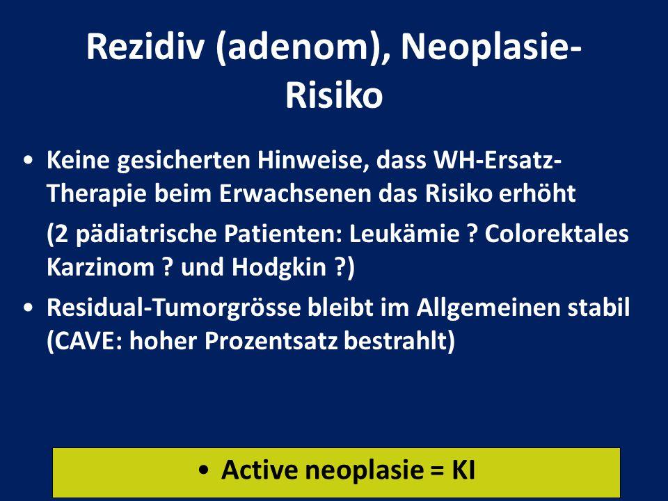 Rezidiv (adenom), Neoplasie-Risiko