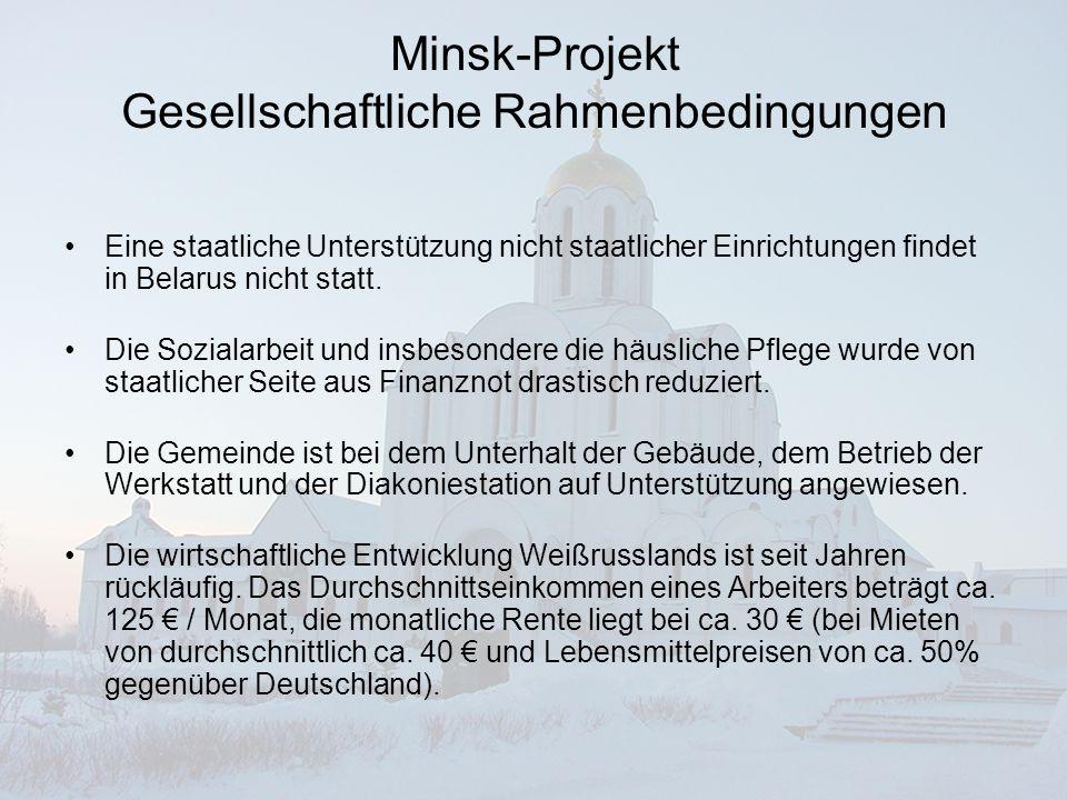 Minsk-Projekt Gesellschaftliche Rahmenbedingungen