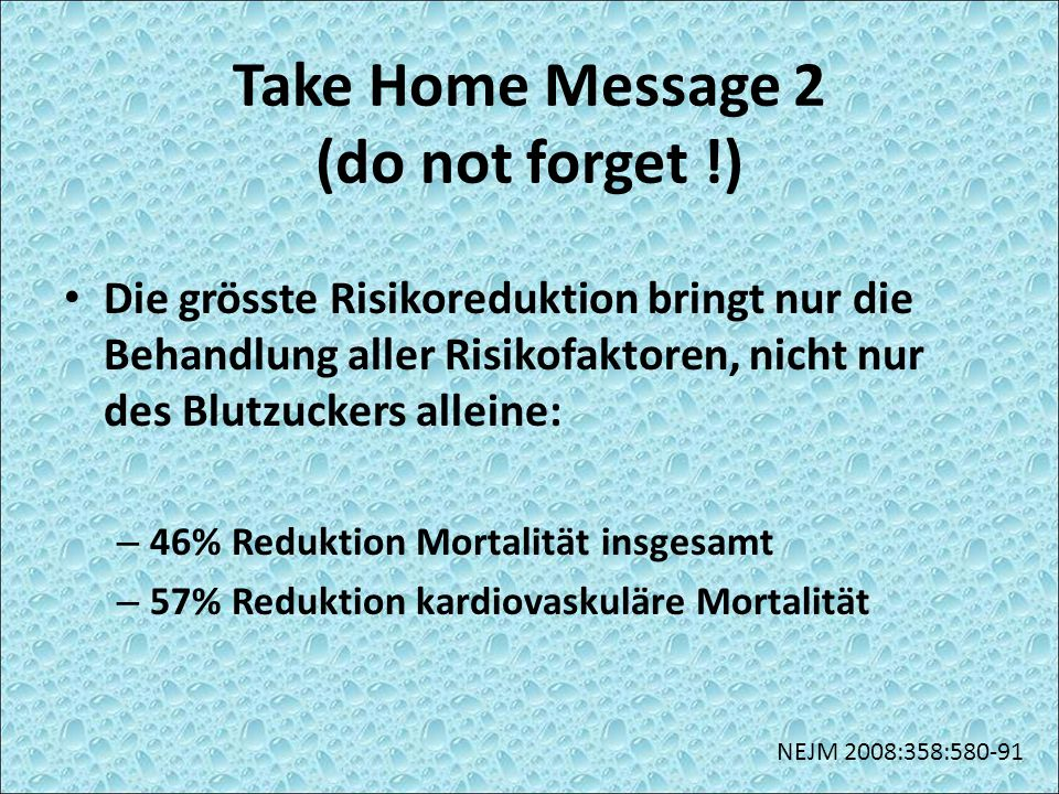 Take Home Message 2 (do not forget !)