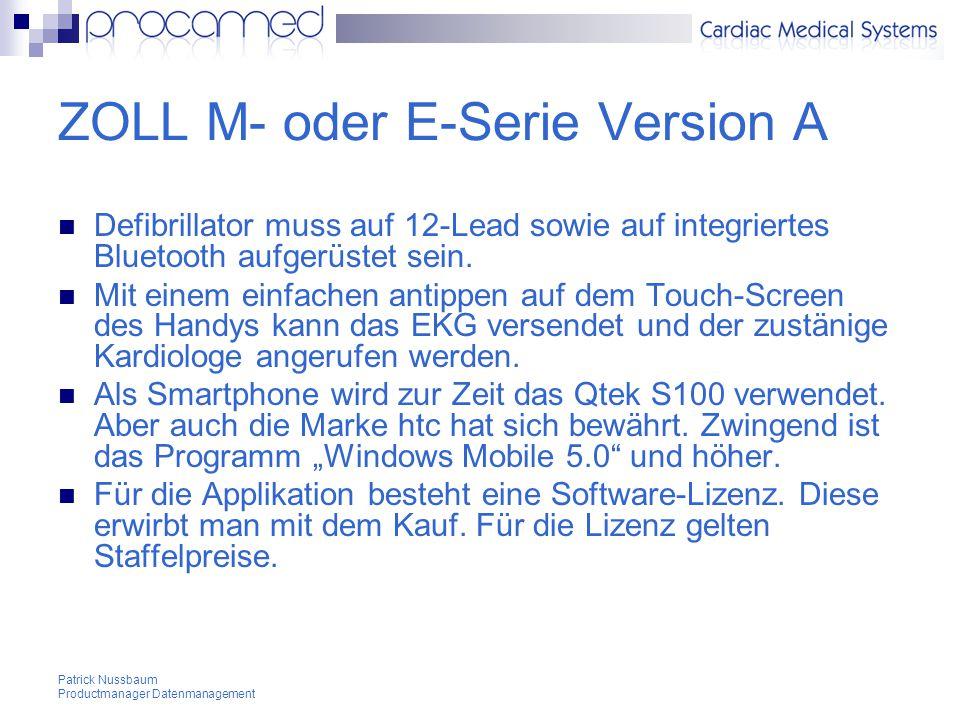 ZOLL M- oder E-Serie Version A