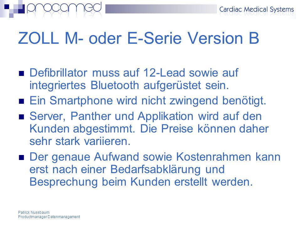 ZOLL M- oder E-Serie Version B