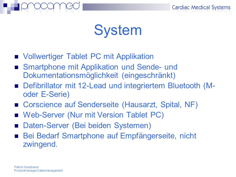 System Vollwertiger Tablet PC mit Applikation