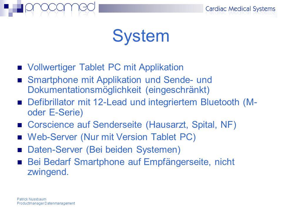 System Vollwertiger Tablet PC mit Applikation