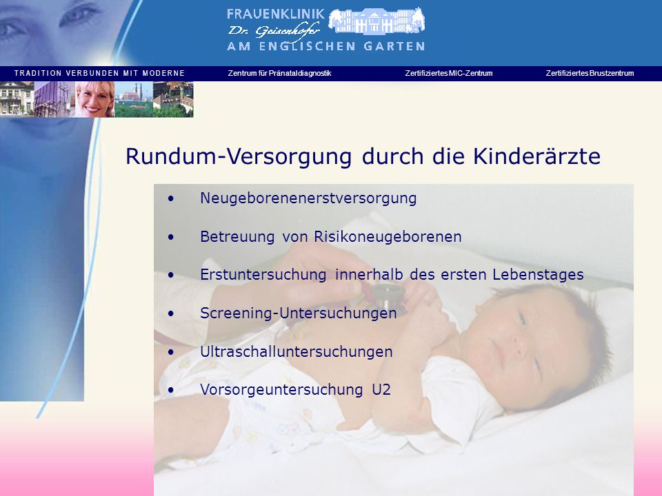 Rundum-Versorgung durch die Kinderärzte