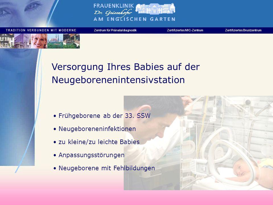 Versorgung Ihres Babies auf der Neugeborenenintensivstation
