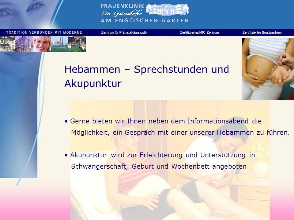 Hebammen – Sprechstunden und Akupunktur