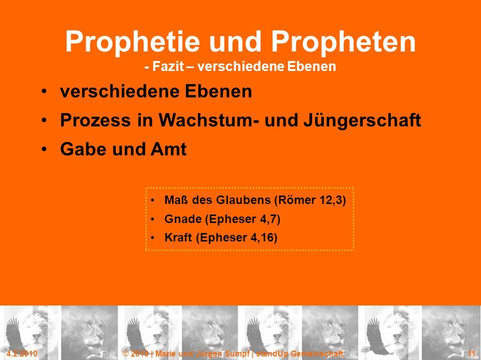 Prophetie und Propheten - Fazit – verschiedene Ebenen