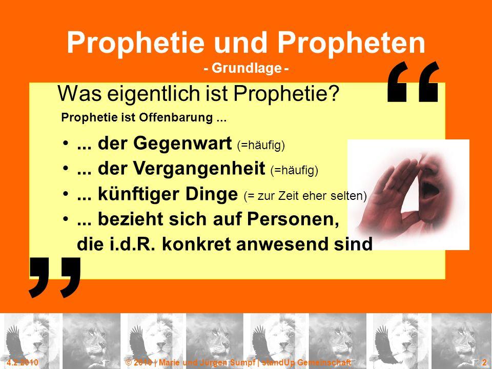 Prophetie und Propheten - Grundlage -
