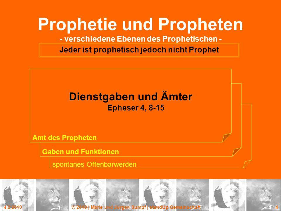Prophetie und Propheten - verschiedene Ebenen des Prophetischen -