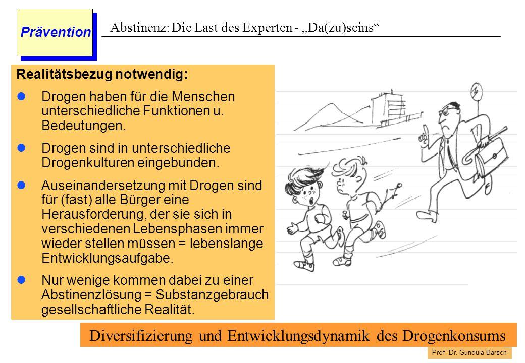 Diversifizierung und Entwicklungsdynamik des Drogenkonsums