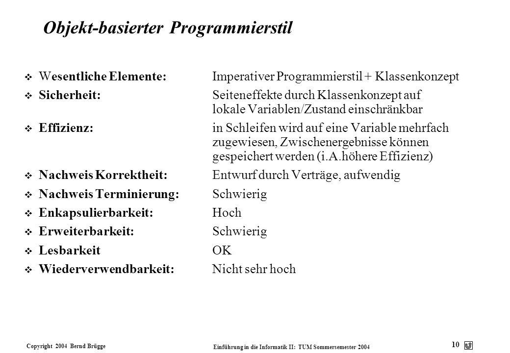 Objekt-basierter Programmierstil