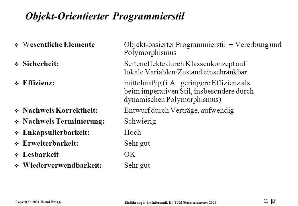 Objekt-Orientierter Programmierstil
