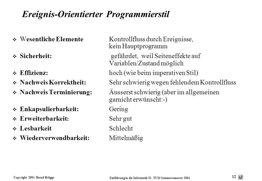 Ereignis-Orientierter Programmierstil