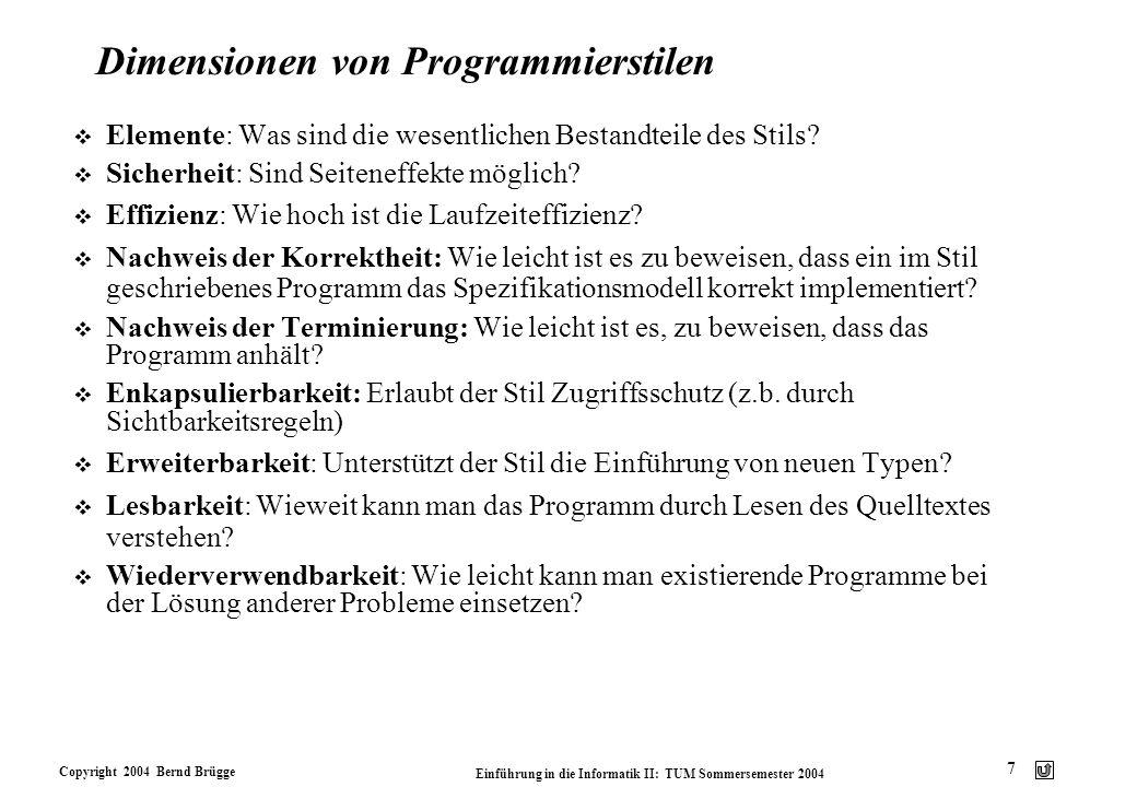 Dimensionen von Programmierstilen