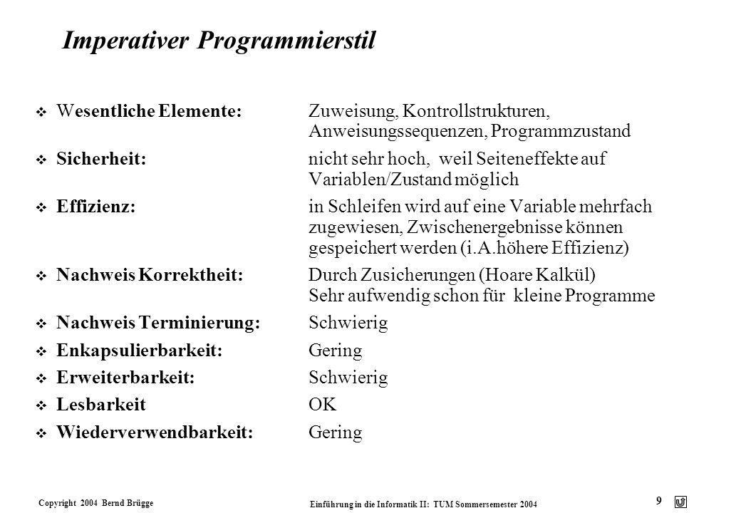 Imperativer Programmierstil