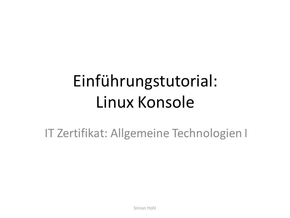 Einführungstutorial: Linux Konsole