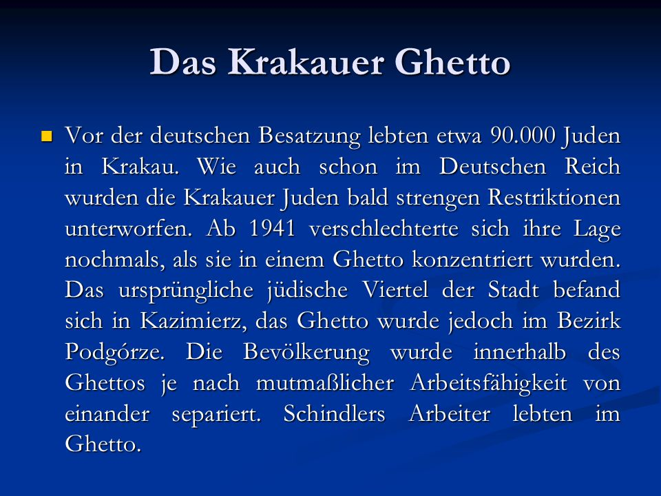 Das Krakauer Ghetto