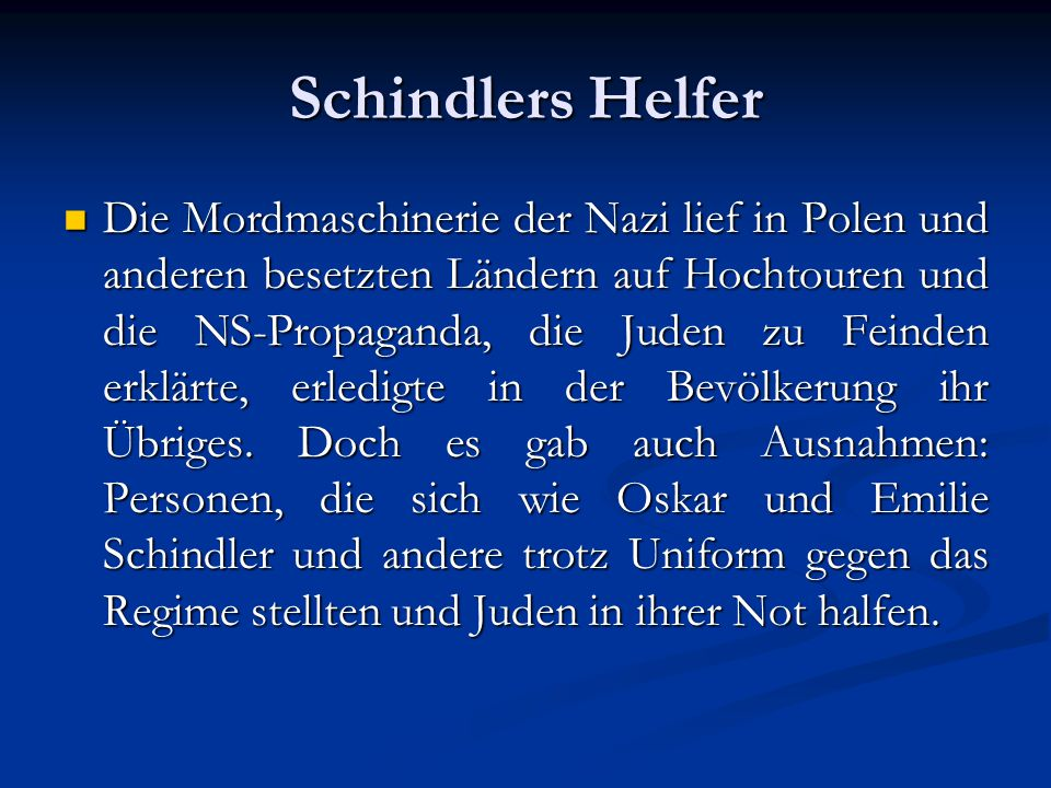 Schindlers Helfer