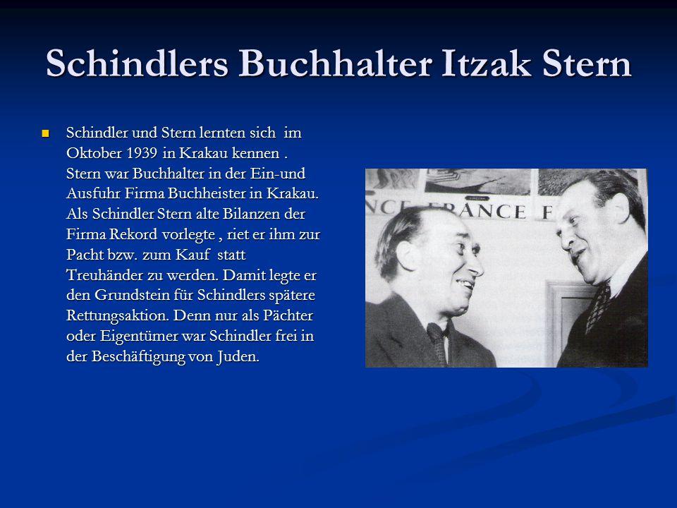 Schindlers Buchhalter Itzak Stern