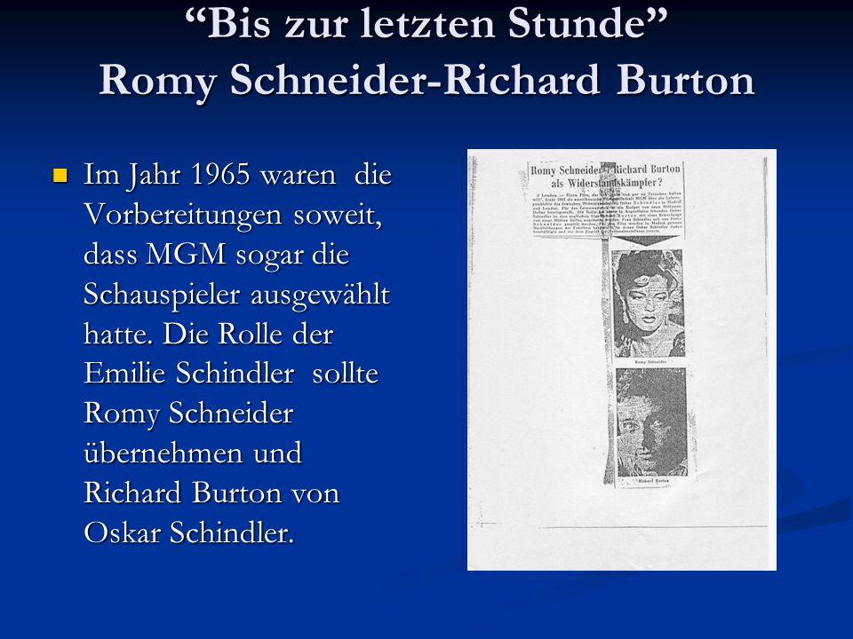 Bis zur letzten Stunde Romy Schneider-Richard Burton