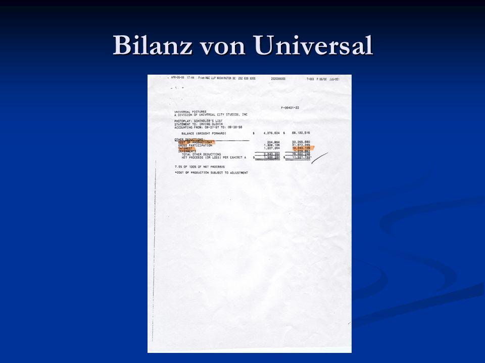 Bilanz von Universal
