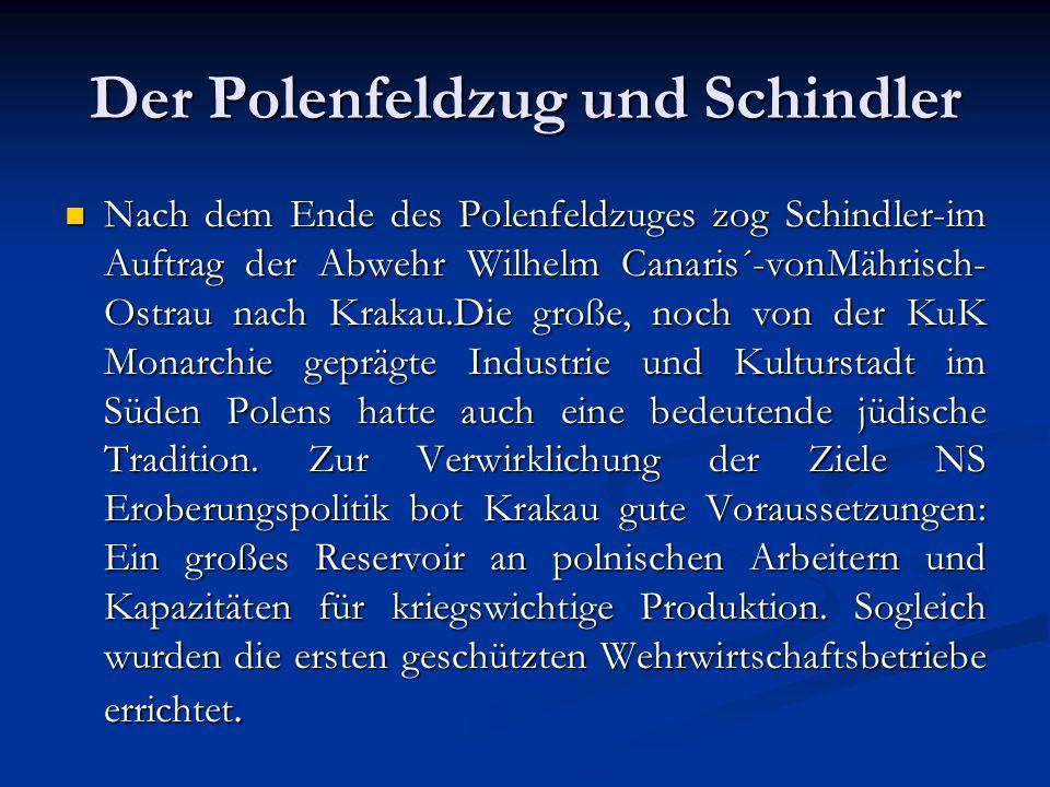 Der Polenfeldzug und Schindler