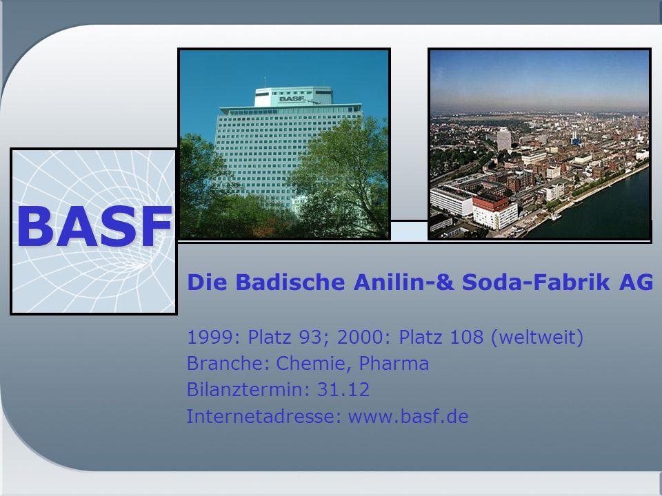 BASF Die Badische Anilin-& Soda-Fabrik AG
