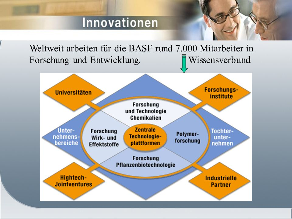 Weltweit arbeiten für die BASF rund 7